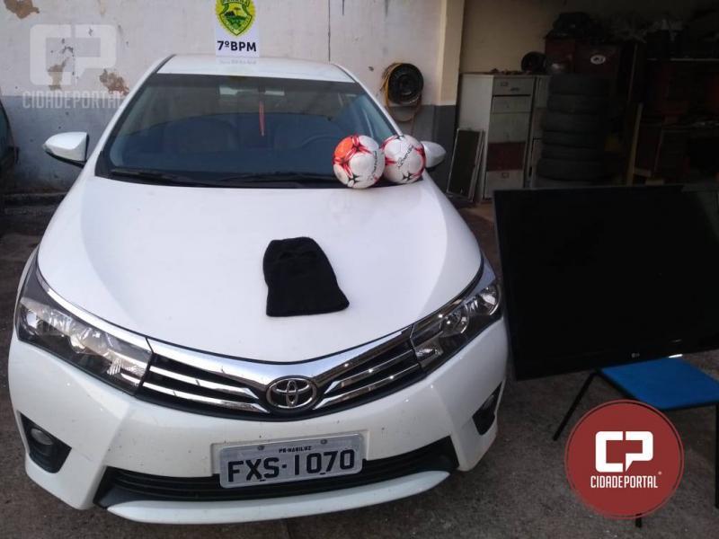 Polícia Militar de Mariluz recupera veículo roubado na noite de quarta-feira, 12