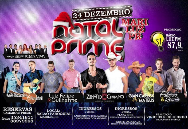 Venha festejar e prestigiar o Natal Prime, em Mariluz!