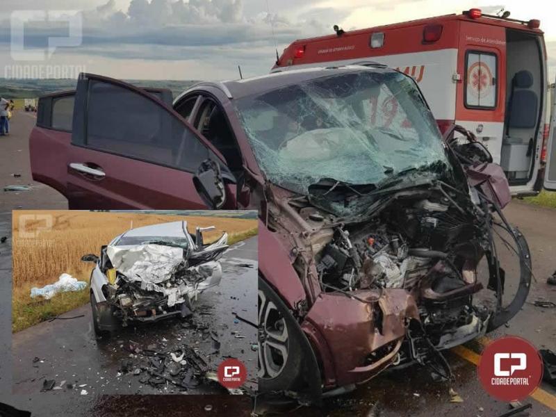 Grave acidente na PR-486, em Brasilândia do Sul deixa saldo de 3 mortos e 3 feridos