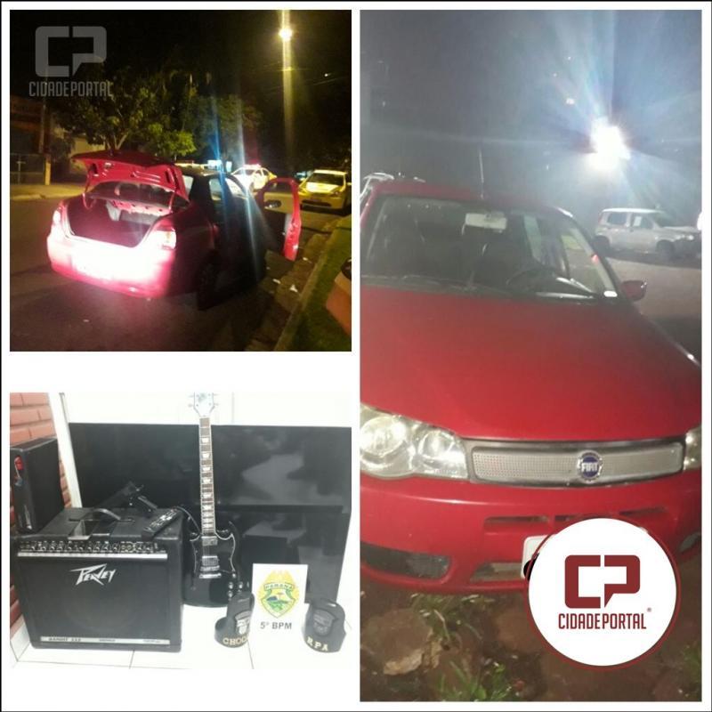 Polícia Militar de Londrina recupera veículo e pertences pessoais tomado de assalto neste domingo, 26