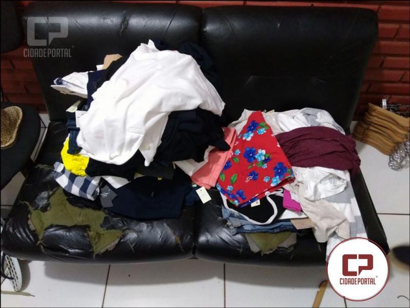Polícia Militar de Londrina recupera 400 peças de vestuário que seriam produtos de furto
