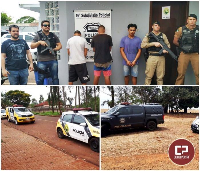 A Polícia Militar age rápido e prende acusados de roubo no município de Farol
