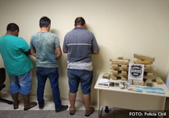 Policia Civil prende três envolvidos com tráfico de drogas em Mamborê e Janiópolis
