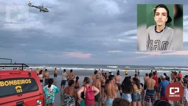 Jovem com 18 anos morador em Engenheiro Beltrão morre afogado em Praia de Pontal do Paraná