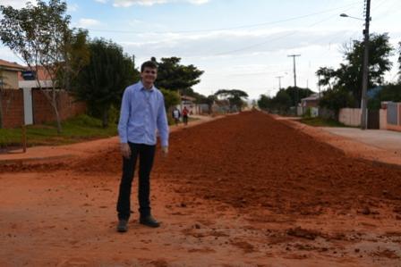 Asfalto em Paraná do oeste deverá ser finalizado em breve