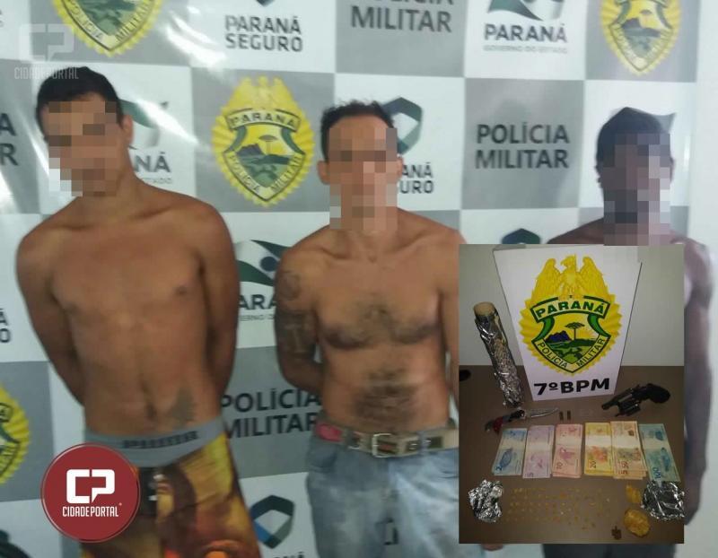 Polícia Militar de Moreira Sales apreende drogas, arma de fogo e dinheiro durante patrulhamento