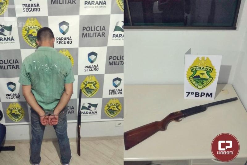 Uma pessoa foi presa pela Polícia Militar de Moreira Sales após ameaça com um simulacro de espingarda