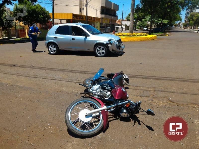 Acidente automobilístico deixa uma pessoa com ferimentos leves em Ubiratã
