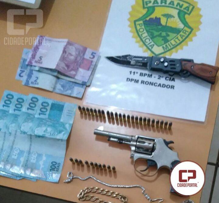 Policiais Militares de Roncador frustam assalto em residência e prendem dois assaltantes
