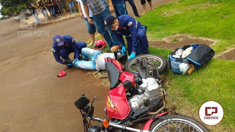 Acidente automobilístico deixa uma pessoa com fratura na cidade de Ubiratã