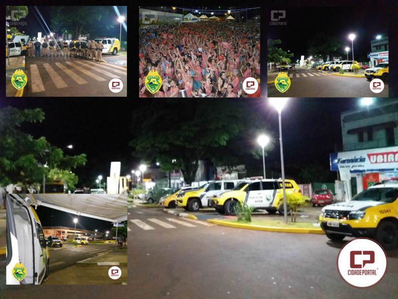 Polícia Militar de Ubiratã garante segurança no Carnaval