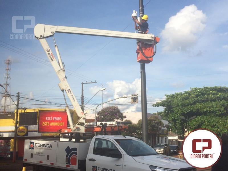 Câmeras de segurança para o vídeo-monitoramento de Ubiratã já estão sendo instaladas