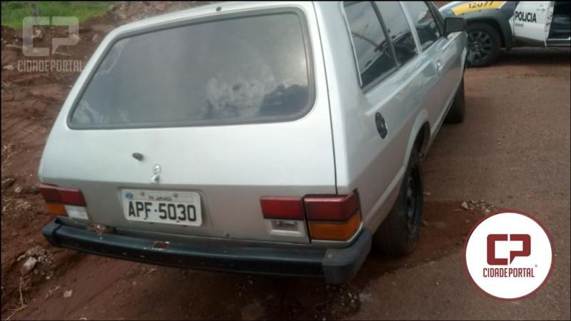 Veículo roubado em Juranda foi recuperado no Jardim América em Goioerê