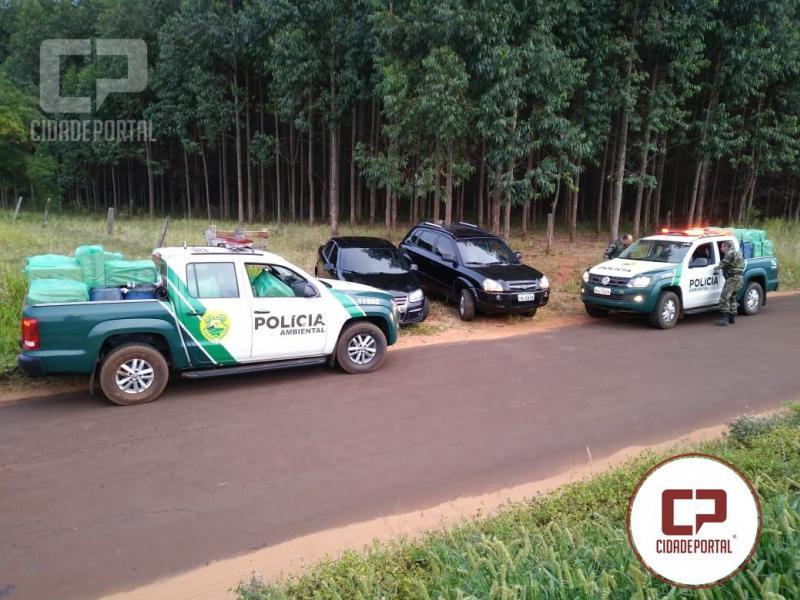 Polícia Ambiental de Umuarama apreende combustível, cigarros e dois veículos em Iporã