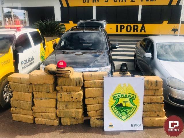 PRE de Iporã e ROTAM apreendem caminhonete roubada com mais de meia tonelada de entorpecentes