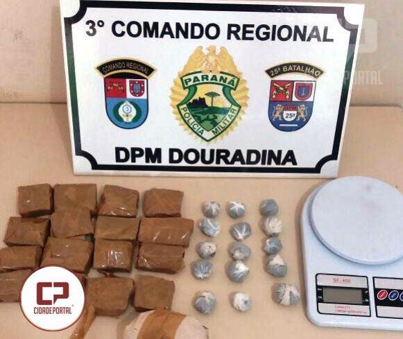 Policiais Militares de Douradina apreendem droga embalada e balança de precisão
