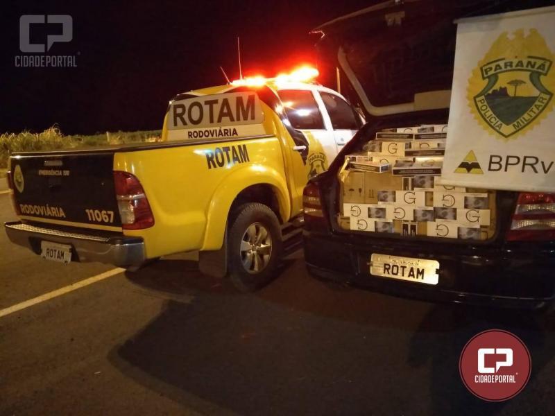 Polícia Rodoviária Estadual de Iporã apreende veículo de cigarros contrabandeados