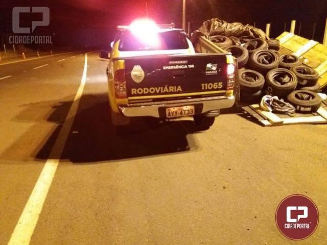 PRE Apreende veículo carregado com pneus contrabandeados em Iporã