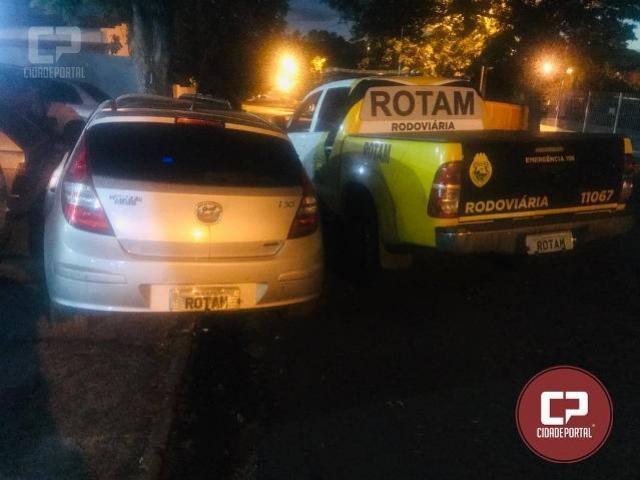 ROTAM do Polícia Rodoviária Estadual prende condutor e recupera veículo furtado