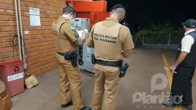 Ladrões usam tecnologia sofisticada para roubar caixas eletrônicos da UEM, em Maringá