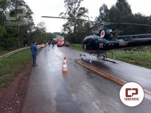 Motorista do acidente na ponte do Rio Água Branca foi retirado das ferragens e o Áero-Médico encaminhou para Umuarama