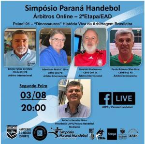 Paraná Handebol promove evento on-line voltado para qualificação de árbitros