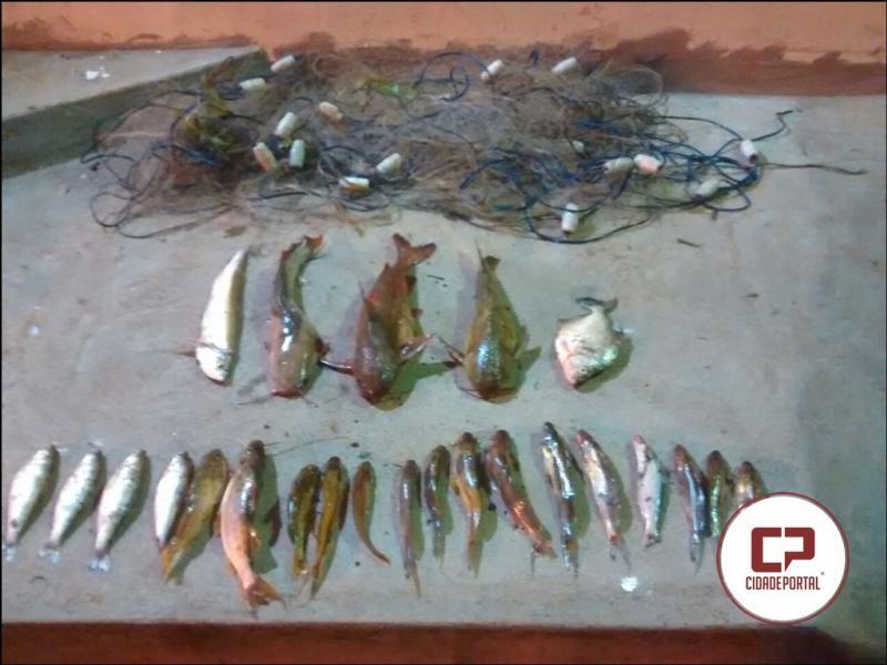 Dois pescadores de Umuarama foram presos com peixes abaixo da medida em Alto Paraíso