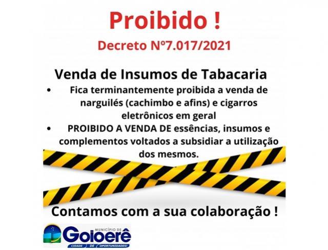 Covid-19 - Decreto proíbe venda de narguilé e cigarros eletrônicos