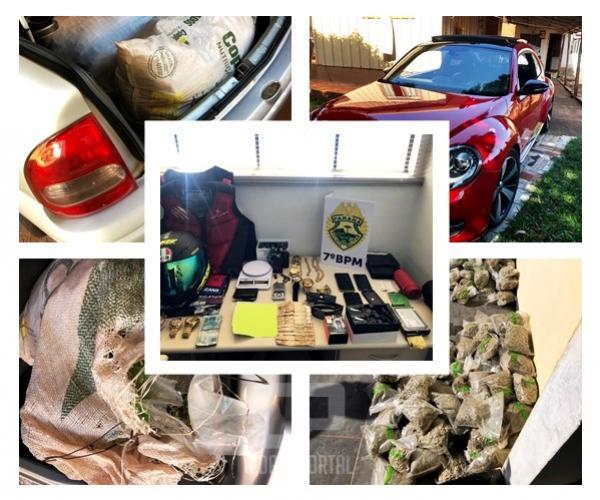 """Polícia apreende 50 KG de """"skunk"""" e prende uma pessoa por tráfico de drogas, 2 milhões renderiam após a venda"""