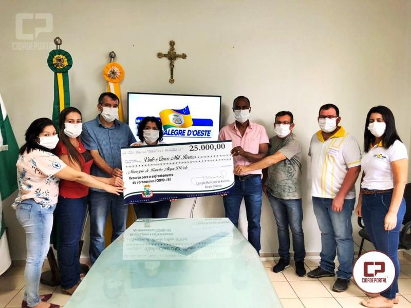 Câmara de Rancho Alegre do Oeste destina 25 mil reais para combate ao Covid-19