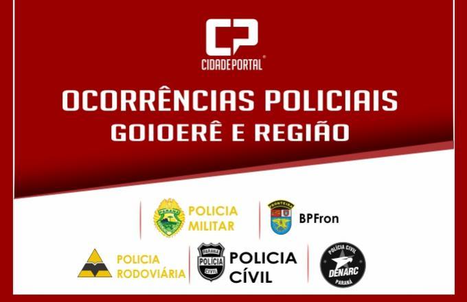 Ocorrências Policiais atendidas pelas equipes de plantão da Polícia Militar da 2ª CIA em Goioerê
