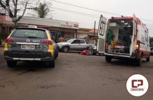 Motociclista sofre ferimentos em acidente na Mauro Mori com São Mateus do Sul em Goioerê
