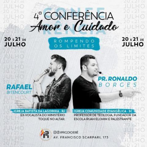 Cantor Gospel Rafael Bitencourt estará em Goioerê próximo dia 20