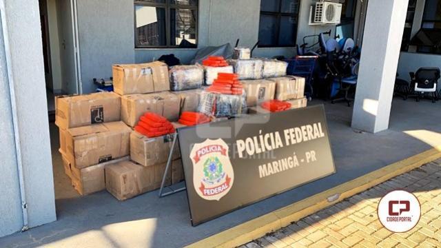 Polícia Federal apreende caminhão carregado com mais de 1 tonelada de maconha