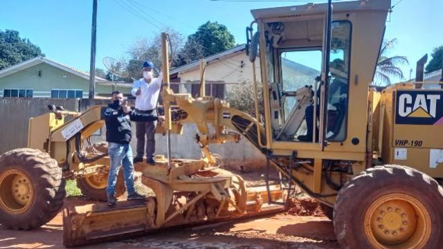 Iniciada as obras de pavimentação asfáltica no Conjunto Águas Claras, em Goioerê