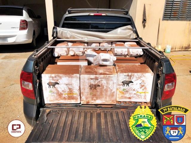 Policiais do 7º BPM apreendem venenos contrabandeados em Tuneiras do Oeste