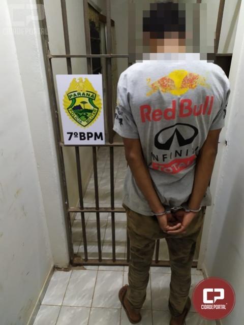 7º BPM realiza prisão de indivíduo foragido da 17ª DRP de Cruzeiro do Oeste