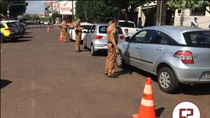 Operação de Transito foi realizada pela Polícia Militar de Goioerê nesta sexta-feira, 01