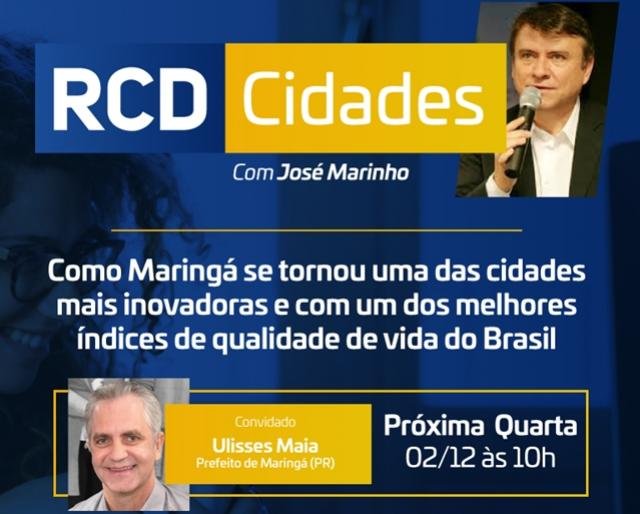 Prefeito Ulisses Maia apresenta o modelo de inovação de Maringá no RCD Cidades