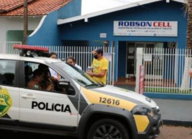 Dupla armada assalta empresa de celular em Goioerê