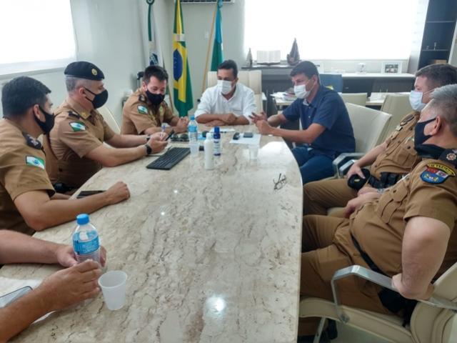 Prefeitos discutiram segurança regional e Cia Independente com o comando da Polícia Militar