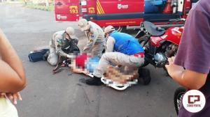 Acidente automobilístico deixa uma pessoa ferida na tarde desta terça-feira, 03
