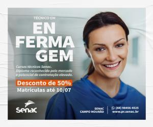 Senac Campo Mourão com matrículas abertas para Técnico em Enfermagem