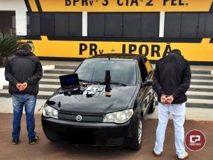 Posto Policial Rodoviário de Iporã apreendem entorpecentes, aparelho chupa cabra e prende duas pessoas