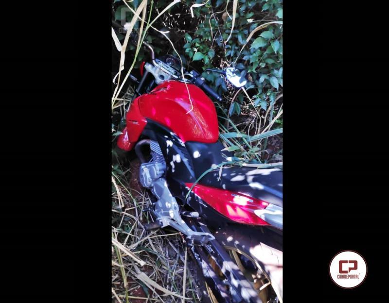 Polícia Militar recupera motocicleta roubada em Goioerê após denúncia anônima