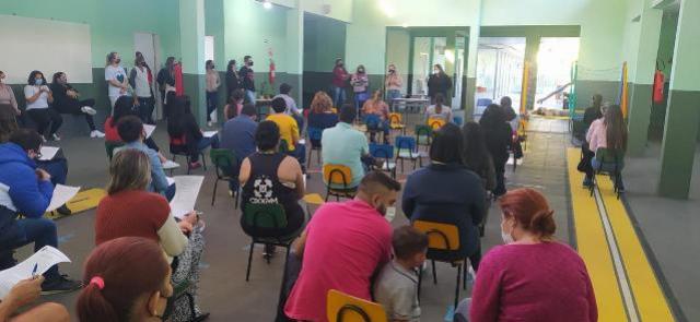 Reunião discute retorno de aulas presenciais do CMEI Maria Aparecida Trevisani Belizário, em Goioerê