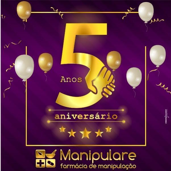 Farmácia Manipularecomemora seus 5 anos em Goioerê - você ganha 15% de desconto