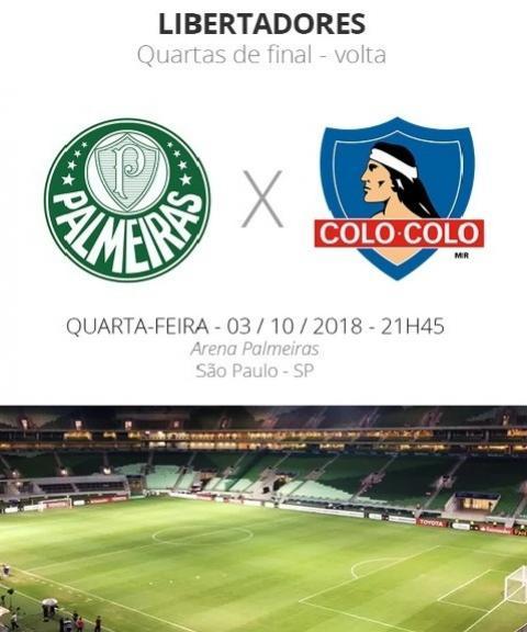 Quartas da Libertadores: tudo o que você precisa saber sobre Palmeiras x Colo-Colo