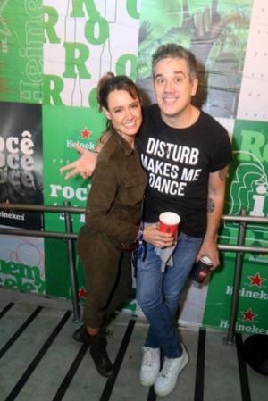 O festival de celebridades no primeiro finde do Rock in Rio - Ludmila Carvalho e Rogério Flausino