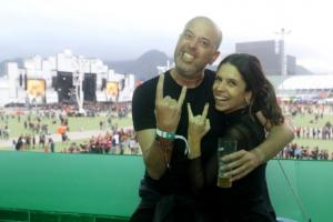 O festival de celebridades no primeiro finde do Rock in Rio - Alex Escobar e Thamine Leta